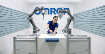 Omron TM collaborative robot application bboard en sol