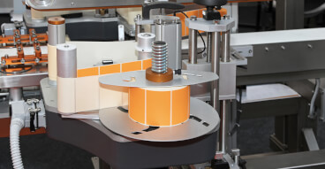 labelling orange machine bboard sol