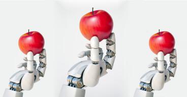robot hand apple bboard misc
