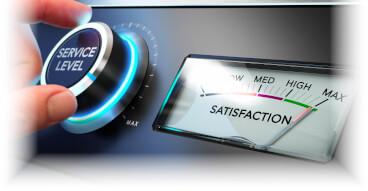 service level satisfaction bboard back