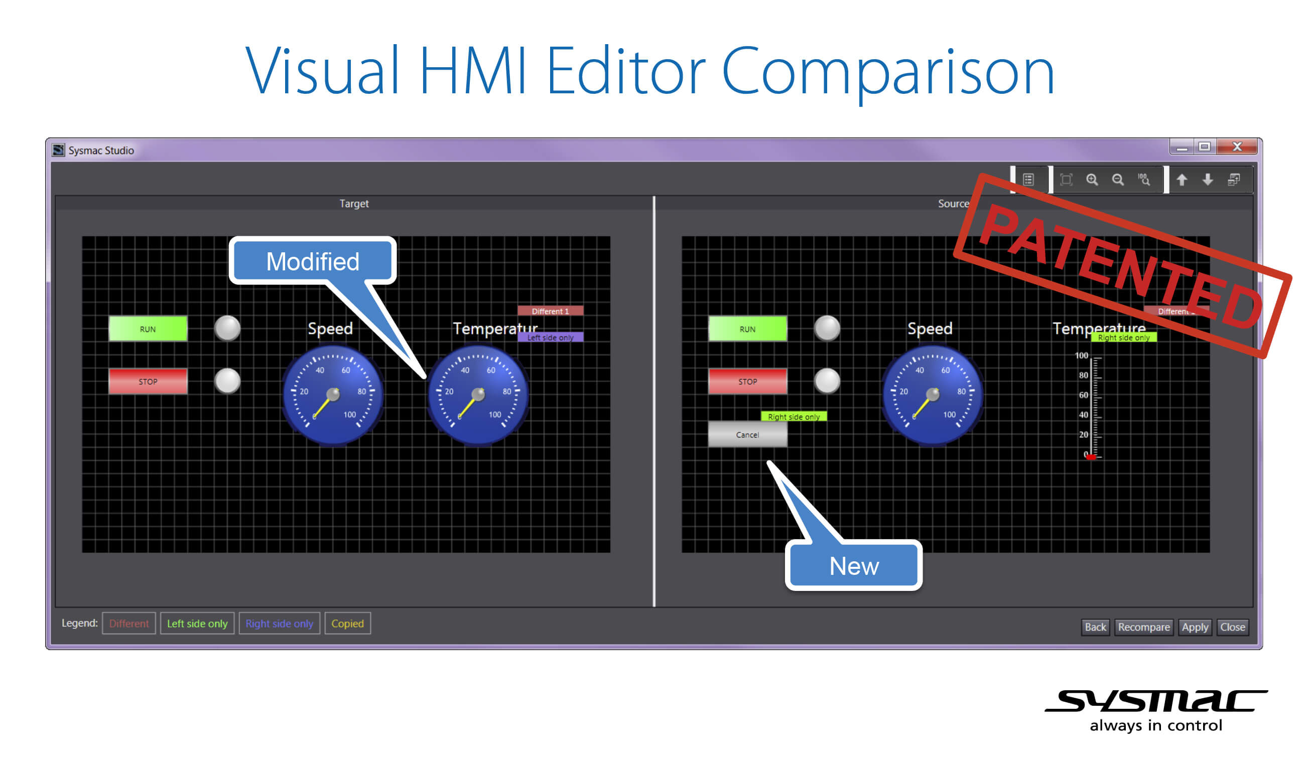 visual hmi editor comparison sysmac studio team edition prod